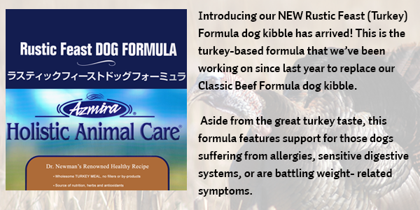 Our NEW Rustic Feast (Turkey) Formula dog kibble is here!!